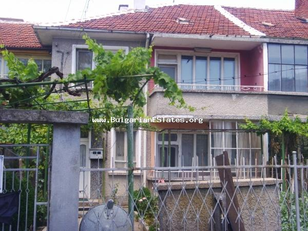 A large, two storey semi-detached house in the popular town of Elhovo.