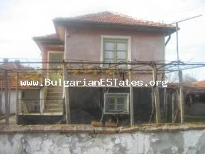 A typical Bulgarian rural house in good condition in the village of Miladinovtsi, Yambol Region.