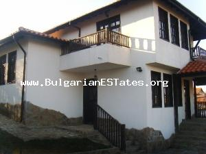 New house for sale built in traditional Bulgarian Revival style located near the Black sea coats.
