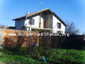 Two-storey house is for sale – good investment, located in the Bulgarian countryside near the sea.
