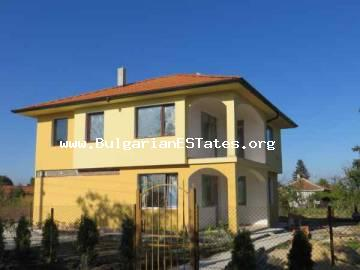 Fabulous new two-storey house for sale located just about 10 km from the city of Bourgas in Bulgaria.