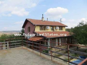 Property for sale – villa on two floors in the peaceful village of Mirolubovo, only a few km from the seaside city of Bourgas and the sea in Bulgaria