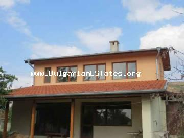 New two-storey house for sale in the village of Sadievo only about 17 km from the seaside city of Bourgas, Bulgaria.