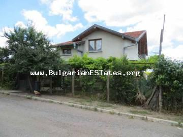 Buy property in Bulgaria .Two-storey new house is for sale in the village of Draganovo, only 20 km away from the town of Aheloi and the sea.