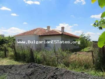 Buy Bulgarian property.Renovated one-storey house is for sale in the village of Mirolyubovo, 20 km from the city of Bourgas and the sea.