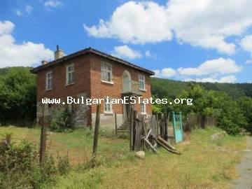Bulgarian properties.Two-storey house is for sale with amazing view to the Strandja Mountain in the village of Kosti, 25 km away from the town of Tsarevo and the sea coast.