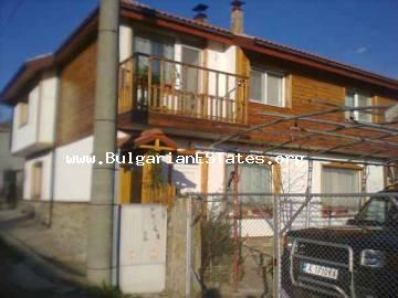 New two-storey house for sale located at the village of Gramatikovo, 30 km from the town of Tsarevo and the sea in Bulgaria.