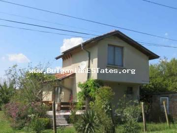 New two-storey house is for sale with three bedrooms in the village of Polski Izvor, 15 km away from Bourgas, Bulgaria.