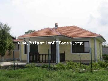 New one-storey house for sale with two bedroom in the village of Trastikovo, 15 km from the city of Bourgas and the sea in Bulgaria.