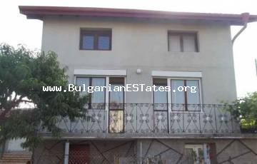 Two-storey house for sale with view to Mandra lake in the village of Konstantinovo, 10 km from Bourgas and the sea.