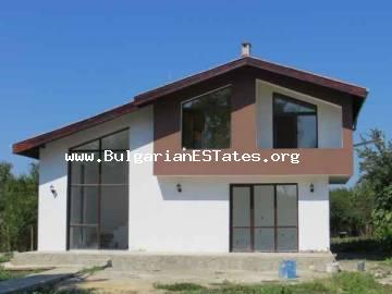 For sale is new two-storey house for sale with three bedrooms in the village of Trastikovo, 15 km from Bourgas, Bulgaria.