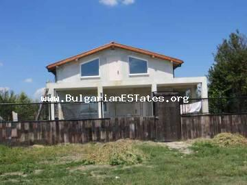 New, massive, furnished, two-storey house is for sale in the village of Polski Izvor only 15 km from Bourgas, Bulgaria.