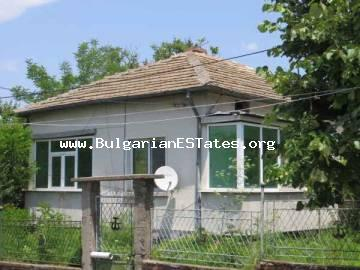 For sale is massive one-storey house located 7 km from the city of Bourgas in the village of Tvarditsa, Bulgaria.