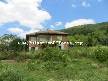 Two-storey rural house for sale is situated at the village of Kosti, 25 km from the town of Tsarevo and the sea in Bulgaria.