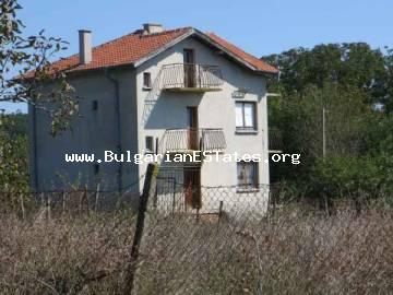 Three-storey house for sale is located in the village of Izvorishte, 20 km from Bourgas, Bulgaria.