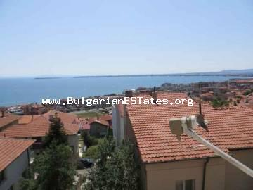 GREAT BARGAIN! For sale is cheap furnished studio with unique sea panorama in St. Vlas, Bulgaria.