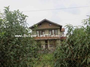 For sale is two-storey house in the village of Marinka, 5 km from the sea and 15 km from the seaside city of Bourgas, Bulgaria.