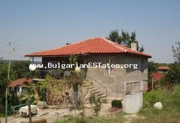 Buy two-storey house only 30 km from the amazing seaside city of Bourgas and the sea in Bulgarian in the village of Krushovets.