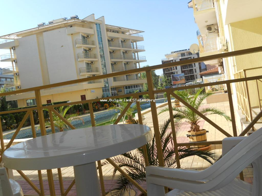 Cheap two bedroom apartment located on the ground floor of the complex Diamond Sky, Sunny Beach is for sale.