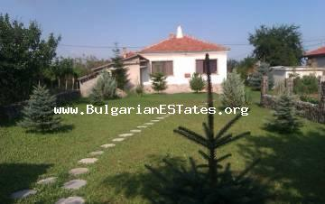 Renovated rural Bulgarian house is for sale in the village of Kamenar, only 6 km from the town of Pomorie and the Black sea and 15 km from the city of Bourgas.