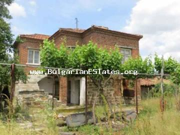 Very cheap two-storey house for sale is located at the village of Zornitca, Bulgaria.Burgas property