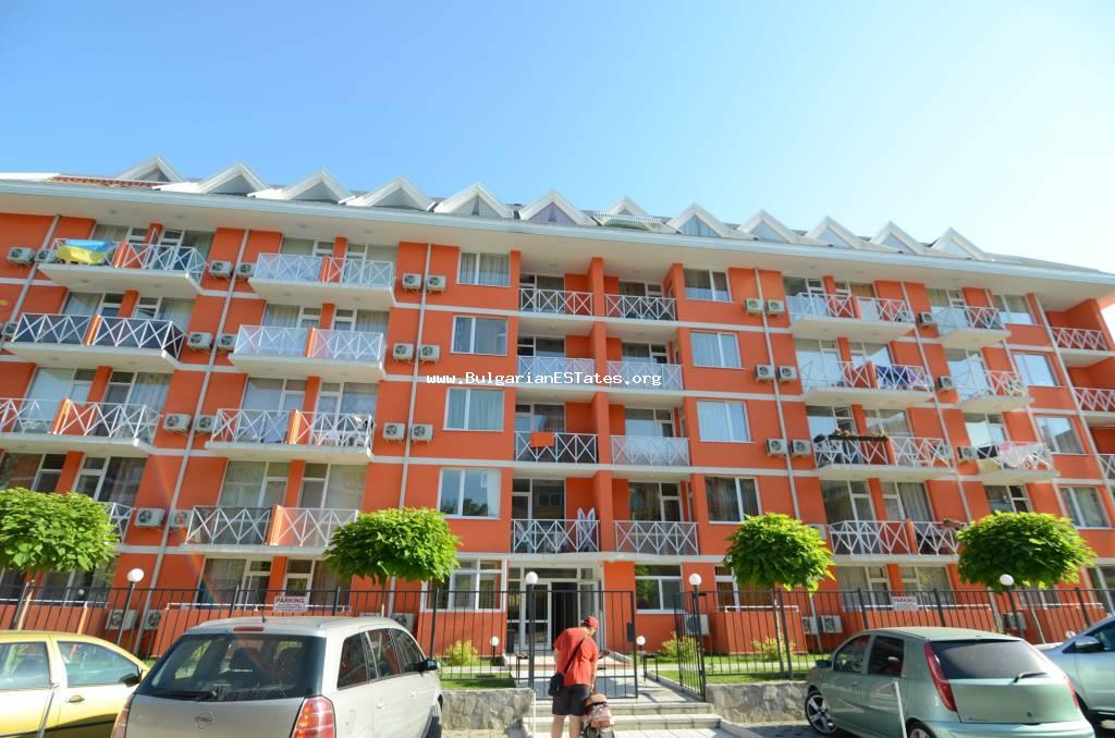 "Furnished studio on the fourth floor, not the last one, is for sale in the popular complex ""Gerber Residence 3"", Sunny Beach."