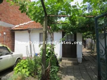 Inexpensive small one-storey house in the village of Livada is offered for sale, only 25 km from the city of Burgas and the sea