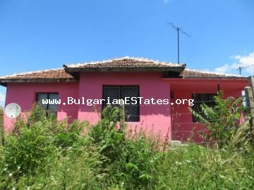 Inexpensive one-storey house is for sale in the village of Svetlina, 35 km from the sea and the city of Burgas.