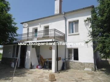 For sale is a two-storey renovated house in village of Fakia, 55 km from the sea and city of Burgas.