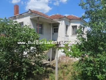 A house is offered for sale in a big yard in the village of Zornitsa, just 50 km from Burgas and the sea.