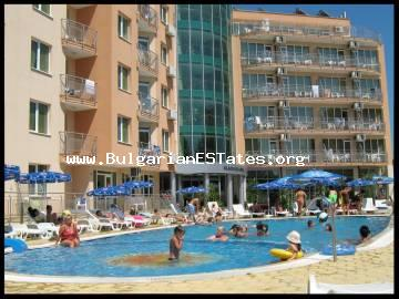 We offer for sale partially furnished, one-bedroom apartment in a complex Blyak Sea, Sunny Beach.