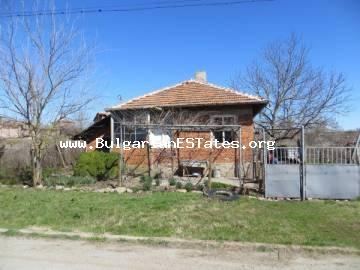For sale is a one-storey house in the village of Svetlina, 30 km from Burgas and the sea, and only 6 km from the town of Sredets.