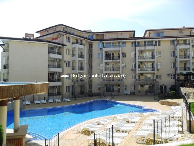 "For sale is offered an affordable two-bedroom furnished apartment in the complex ""Sunny Beach Hills"", just 200 meters walk from the beach in Sunny Beach resort."