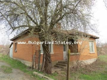 For sale offered an affordable one-storey house in the village of Fakia, only 55 km drive away from the city of Bourgas and the sea, near the Strandzha Mountains.