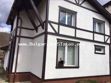 For sale is offered a fully renovated two-storey house in the heart of Strandzha Mountains in the village of Mladezhko, only 55 km from the sea and the town of Bourgas.