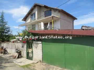 Large house is for sale in the village of Krushevets, just 30 km from the sea and the city of Bourgas