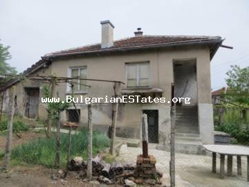 A two-storey brick house is for sale at affordable price with an incredible view just 30 km from Burgas and the sea.