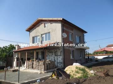 Affordable new two-storey house with a view to the Mandra Lake is offered for sale, only 8 km from Bourgas and the sea.