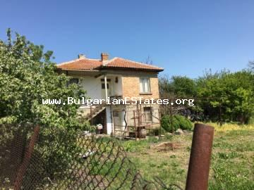A large two-storey house is offered for sale only 25 km from the city of Bourgas and the sea.