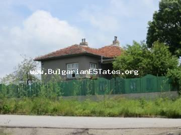 A house is offered for sale in the village of Svetlina, only 35 km from the city of Bourgas and the seacoast