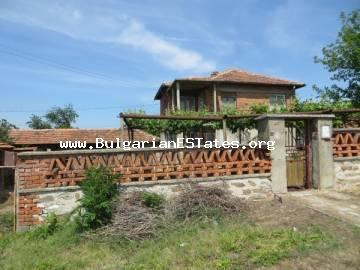 Affordable two-storey house in the village of Voynika is offered for sale, only 68 km from the city of Bourgas and the sea.