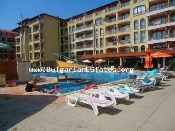 "We offer to your attention a large and spacious studio for sale located on the first floor of a holiday complex ""Royal Dreams"", Sunny Beach."