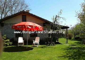For sale is offered a house in the village of Prissad, only 16 km away from the city of Bourgas and two kilometers from the lake Mandra.