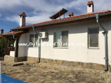 For sale is offered a big new one-storey house in the village of Marinka, only 5 km from the sea and 10 km from the city of Bourgas.