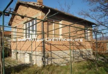 Two-storey house is offered for sale in the village of Orizare, only 14 km from Sunny Beach resort, the seashore and 32 km from the city of Burgas.