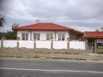 For sale is offered a new one-storey house in the village of Orizare just 14 km from Sunny Beach resort and the sea and 32 km from Burgas.