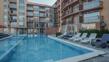 "For sale is a luxurious furnished one-bedroom apartment in a gated complex ""Sunny View South"", Sunny Beach resort."