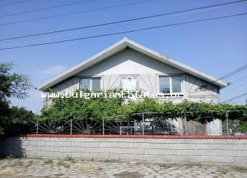 A new two-storey house is offered for sale in the village of Sudievo, just 24 km from the city of Bourgas.