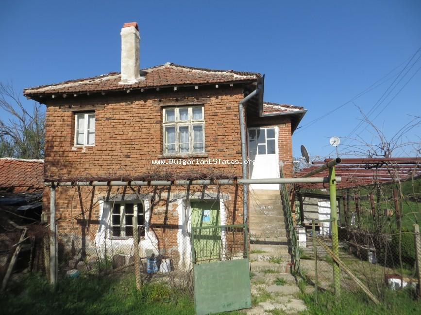 Buy two-storey massive house in the village of Golyamo Krushevo, only 60 km from the city of Bourgas and the sea.