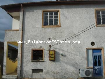 A large house with business is for sale in the village of Veselie only 15 km away from the beach and 30 km from the city of Bourgas.